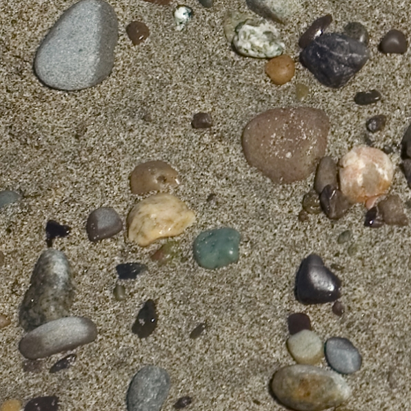 pebbles and gray sand texture