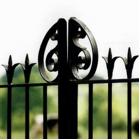 iron fence decor shape