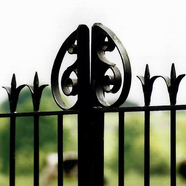 iron fence decor shape