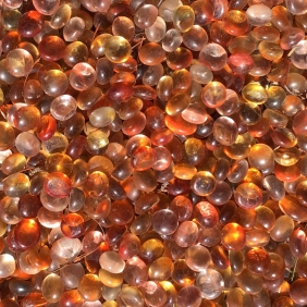 orange glass pebbles texture