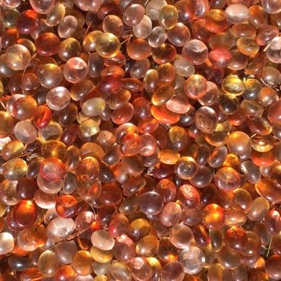 orange glass pebbles texture