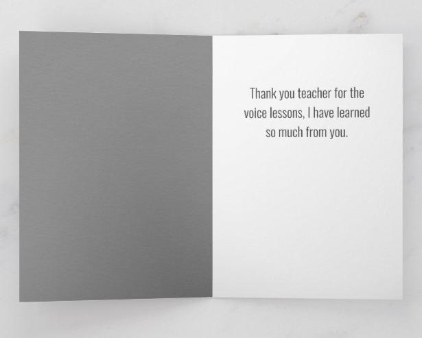 Thank you voice teacher