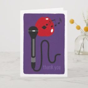 Purple thank you