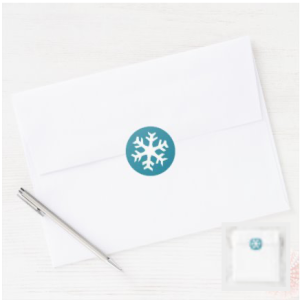 Winter snowflake on blue background stickers