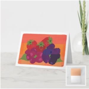 Multicolor Berry Fruit Still Life Blank