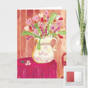 painting of a bouquet of hearts